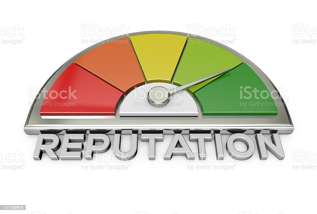 reputation chart stock photo