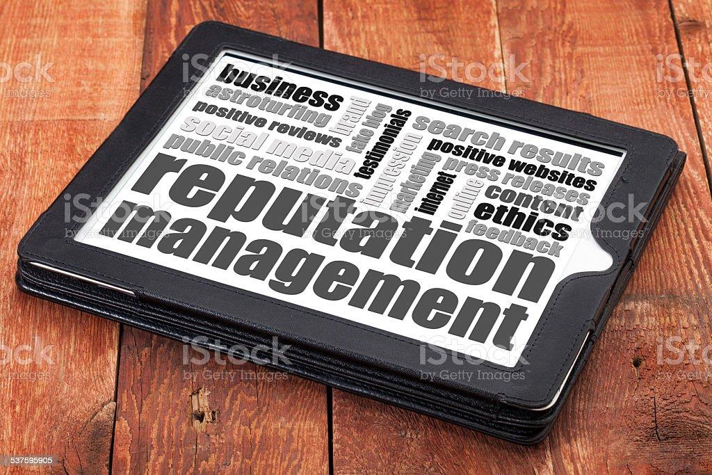 reputation management stock photo