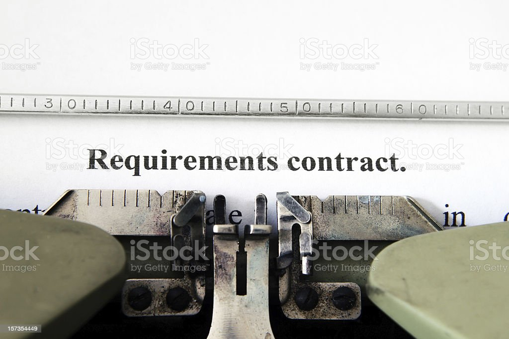 Requirement contract royalty-free stock photo
