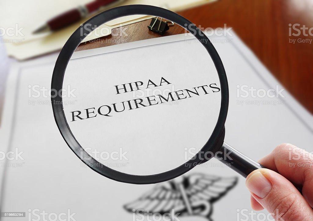 HIPAA Requirements look stock photo