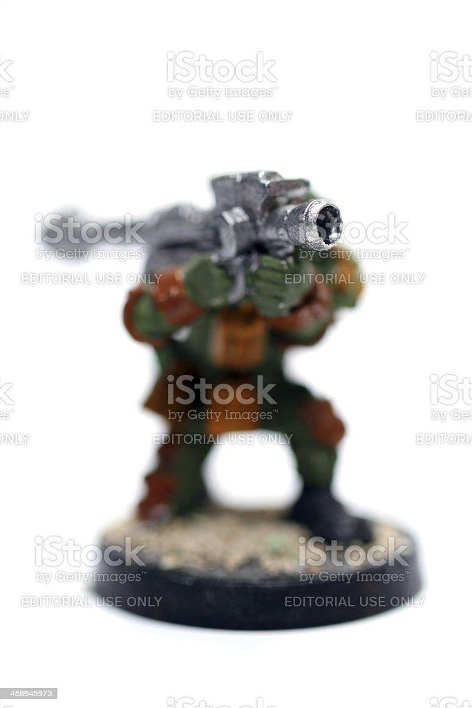 Requisite Heavy Weapons Specialist stock photo