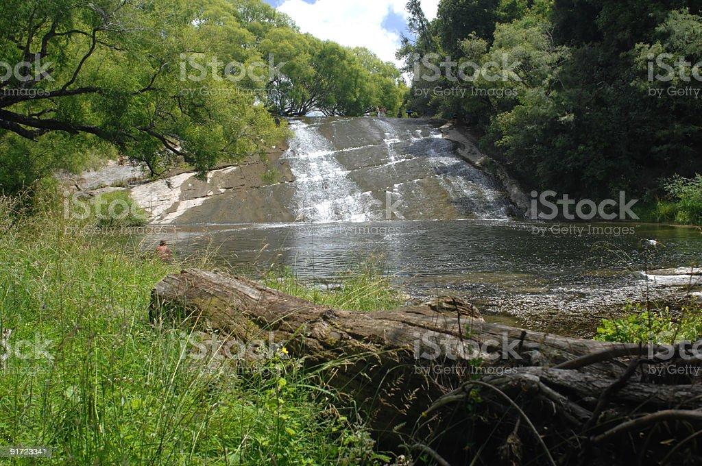 Rere waterslide, Gisborne, New Zealand stock photo