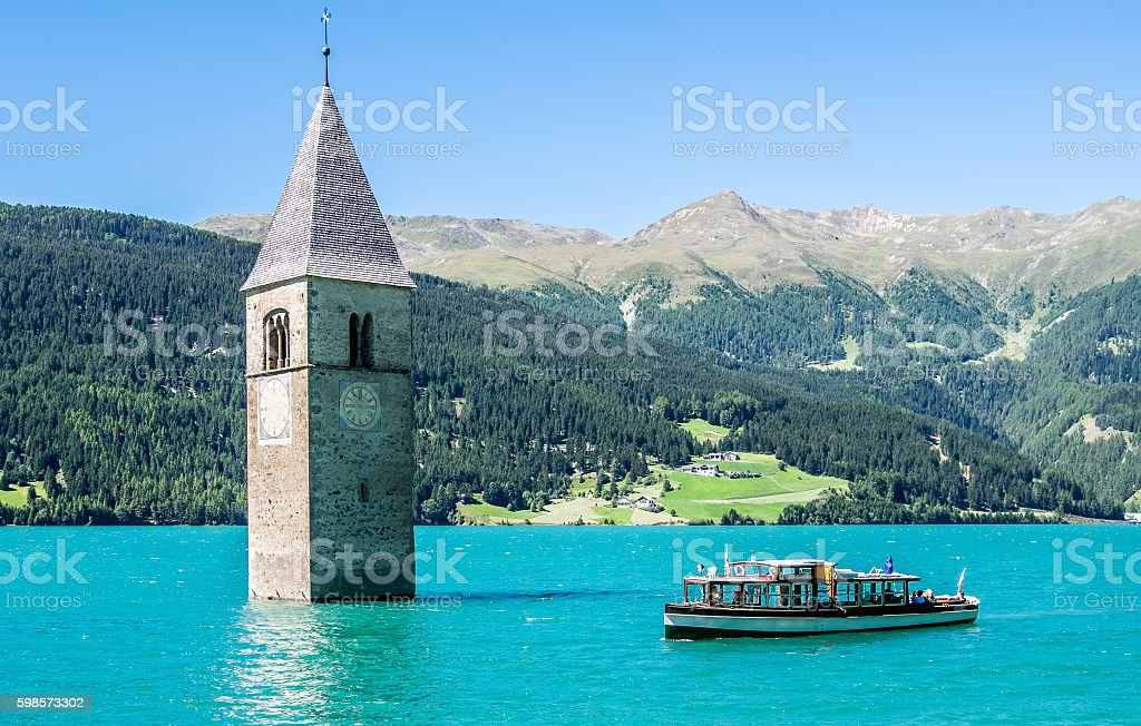 reschenpass stock photo
