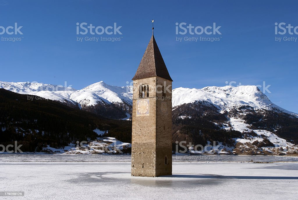Reschensee royalty-free stock photo