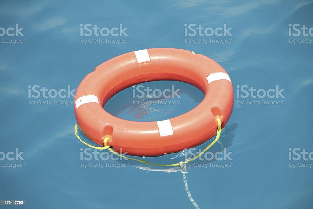 rescue Belt in the water royalty-free stock photo