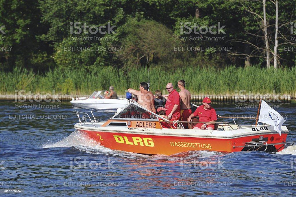 rescue boat of German Life Saving Association (Berlin - Germany) royalty-free stock photo