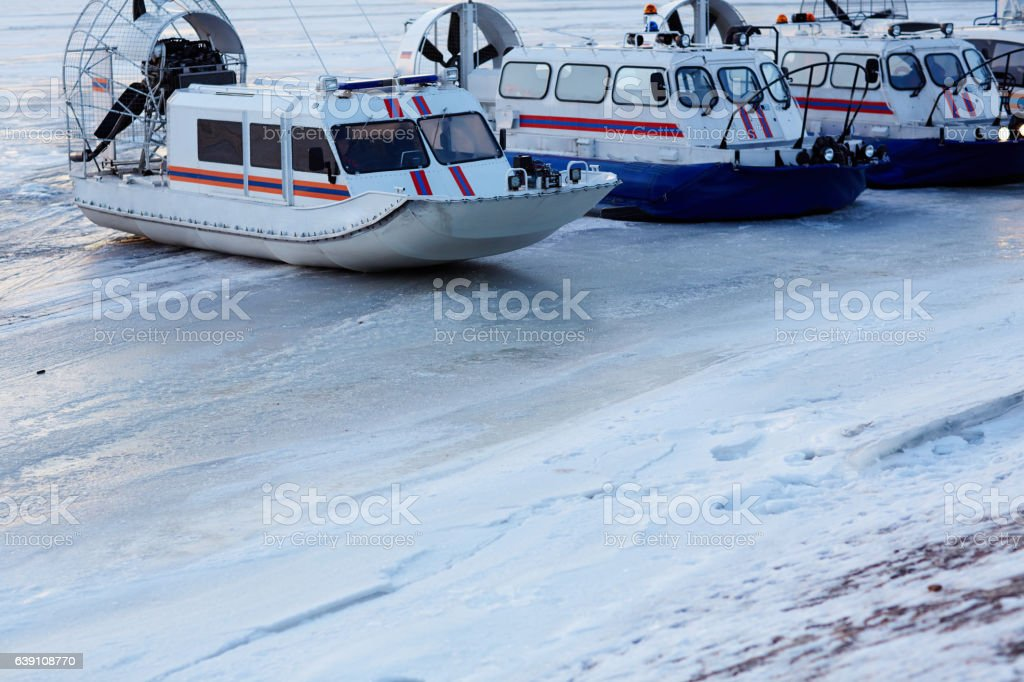 Rescue boats stock photo