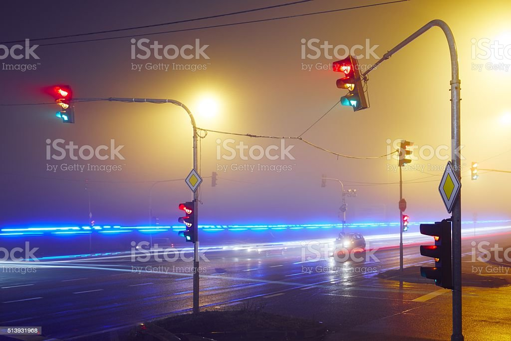 Rescue car lights stock photo