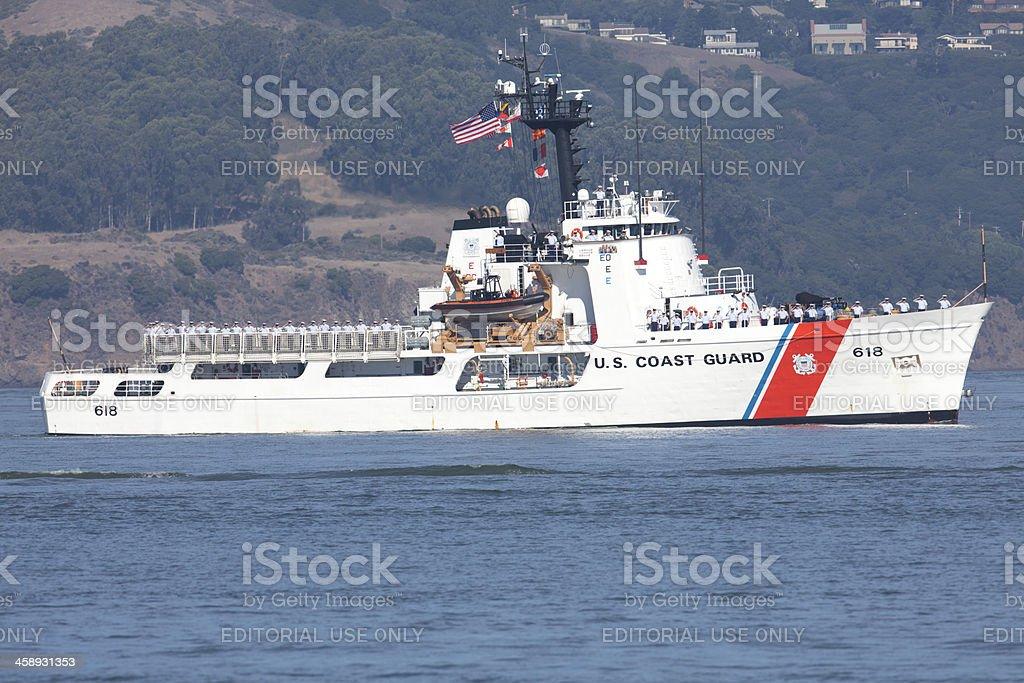 USCGC ACTIVE (WMEC-618) Rescue Cutter stock photo