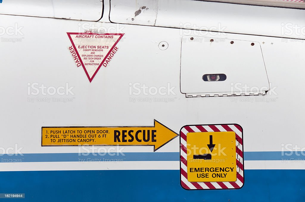 Rescue -Ejection Seat stock photo