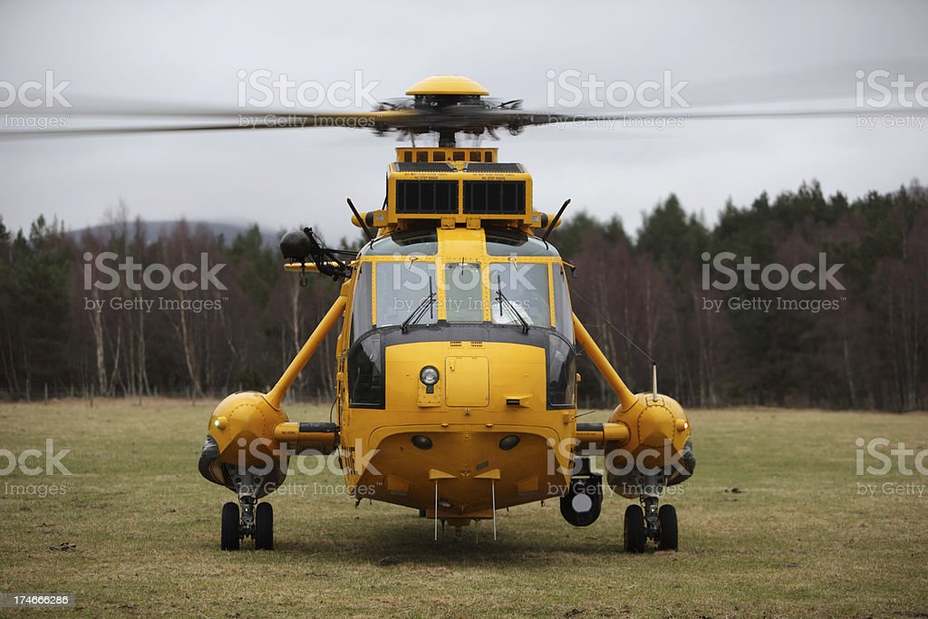Rescue Helecopter Taking Off stock photo