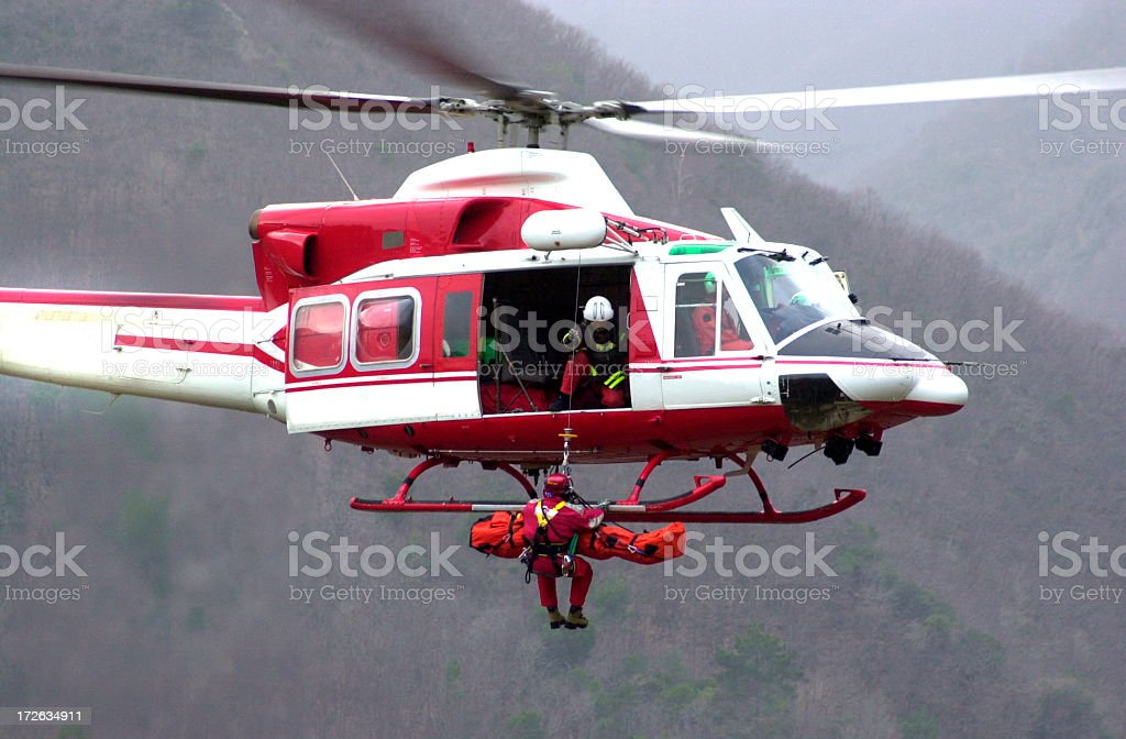 Rescue Helicopter II stock photo