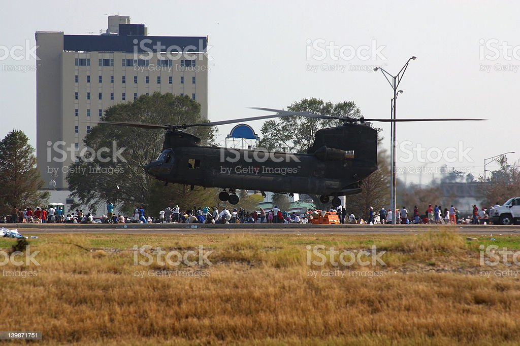Rescue Helicopter Landing stock photo