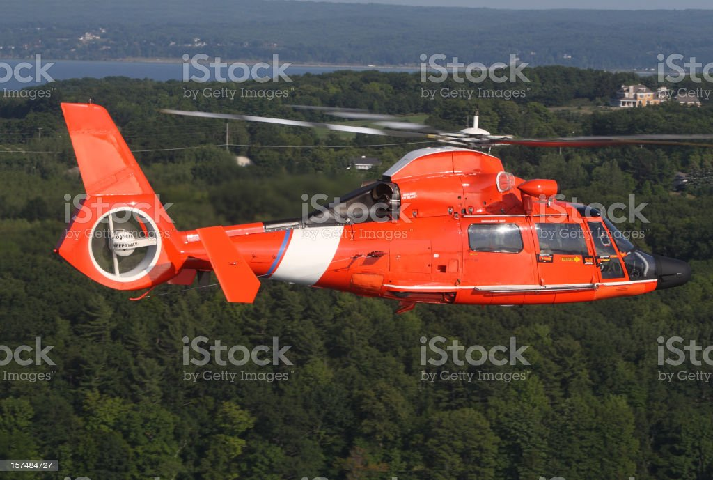 Rescue Helicopter stock photo