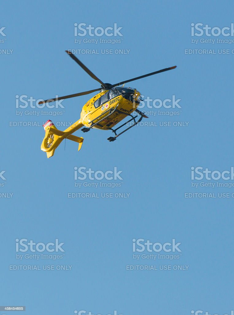 ÖAMTC rescue helicopter royalty-free stock photo