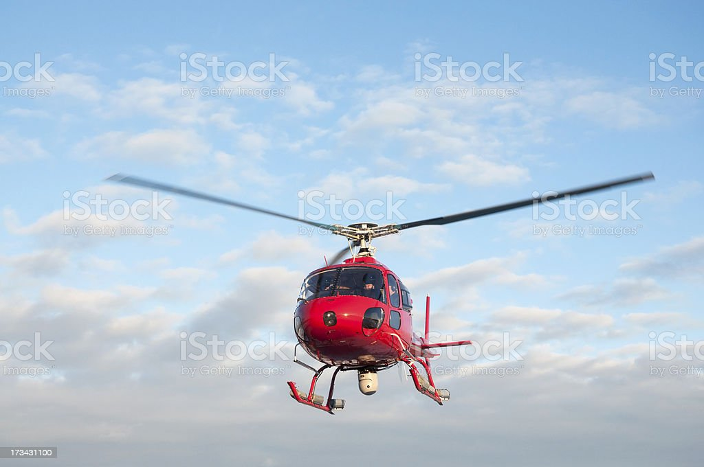 Rescue helicopter with thermal imaging camera stock photo