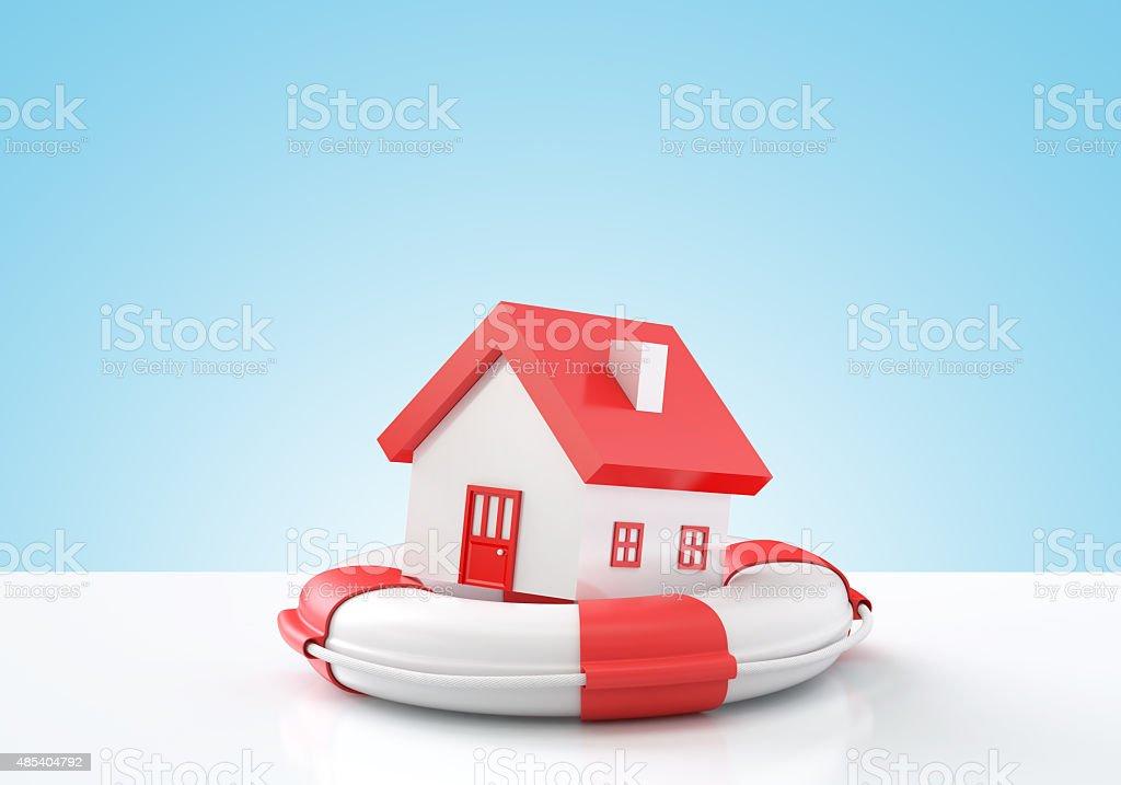 Rescue of real estate concept stock photo