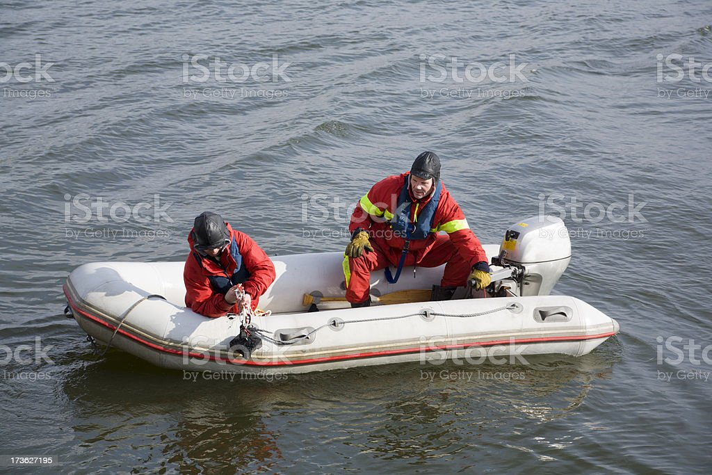 Rescue operation in Stockholm harbour royalty-free stock photo