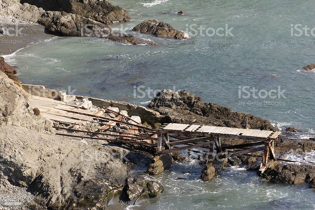 Rescue Pier royalty-free stock photo