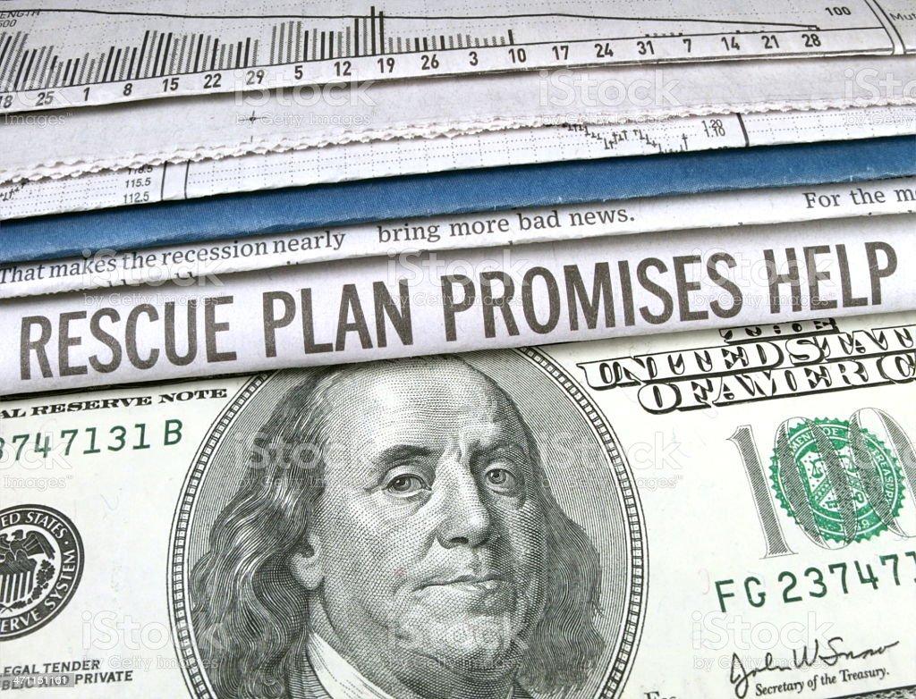 Rescue Plan stock photo
