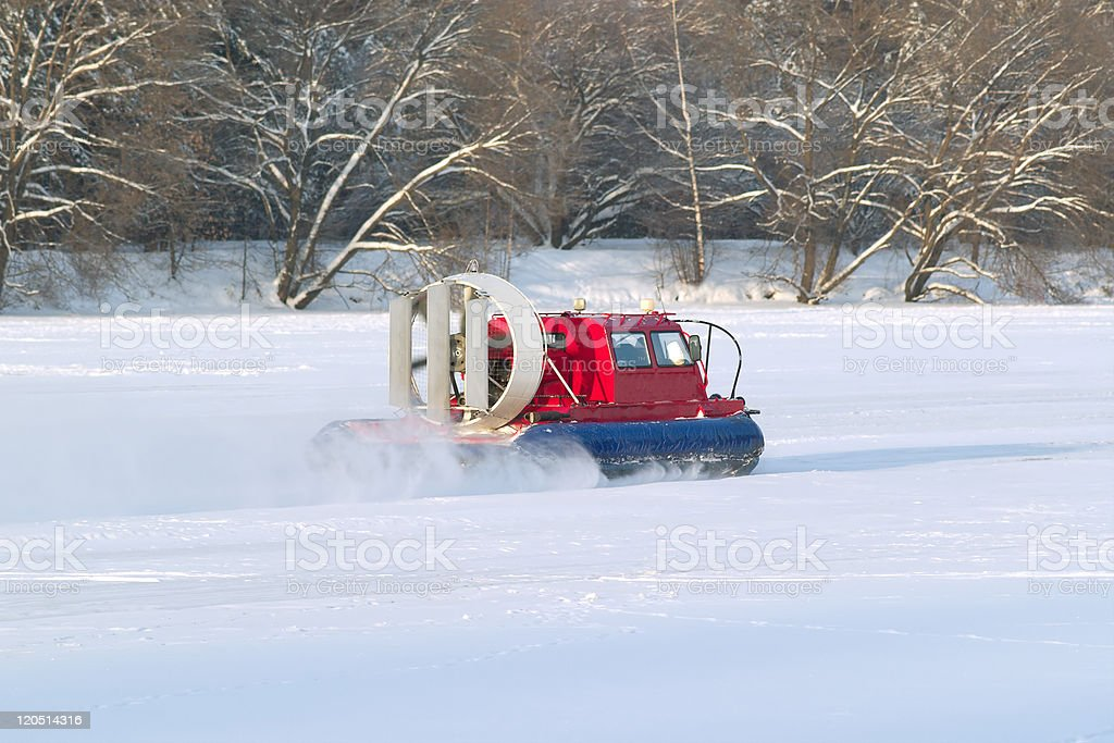 Rescue Service snowmobile patrol on duty royalty-free stock photo
