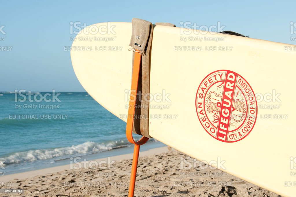 Rescue Surfboard royalty-free stock photo