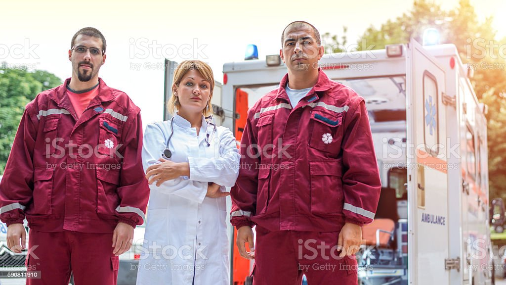 Rescue team stock photo