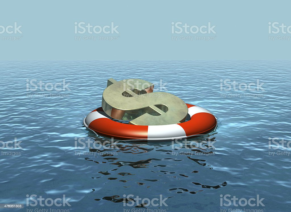 Rescuing the dollar stock photo