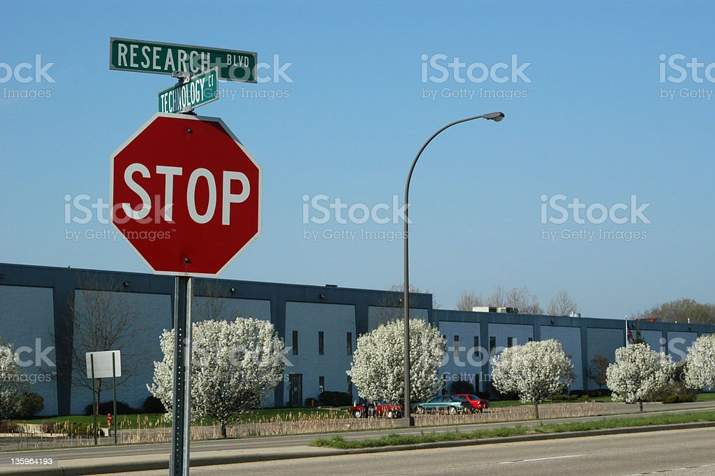 Research Blvd and Business stock photo