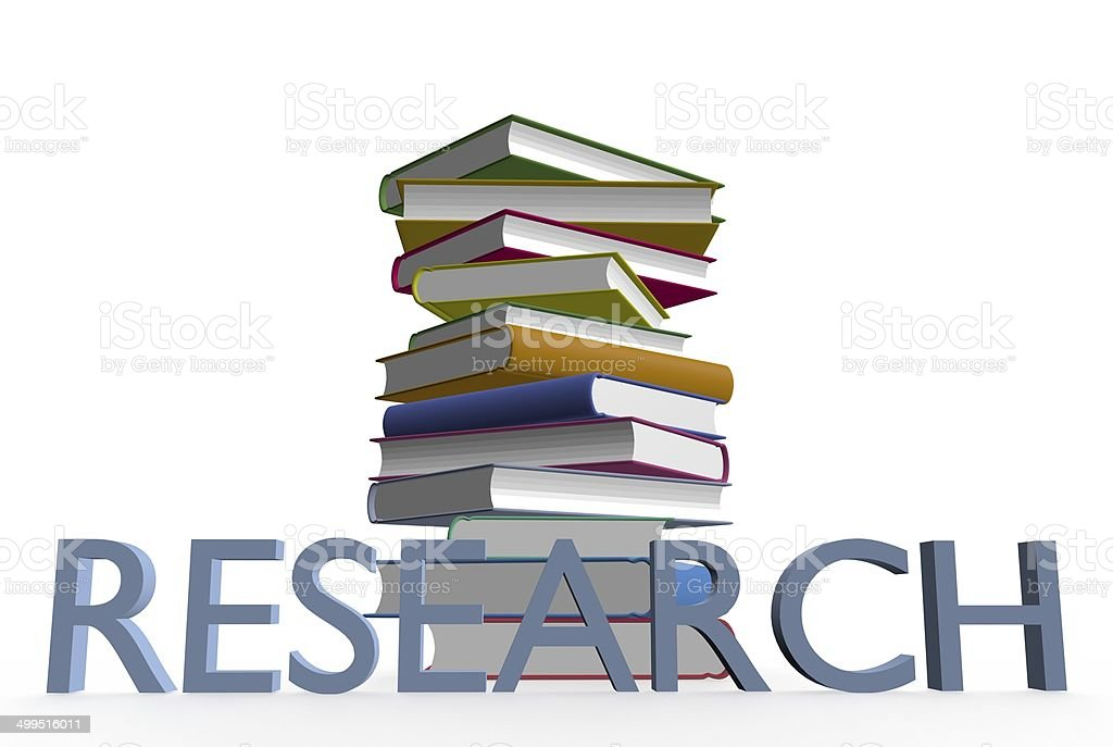 Research books royalty-free stock photo
