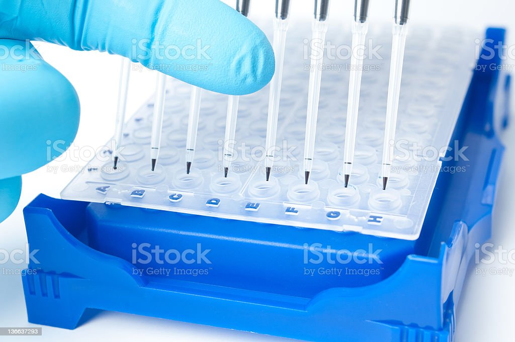 Research equipment stock photo
