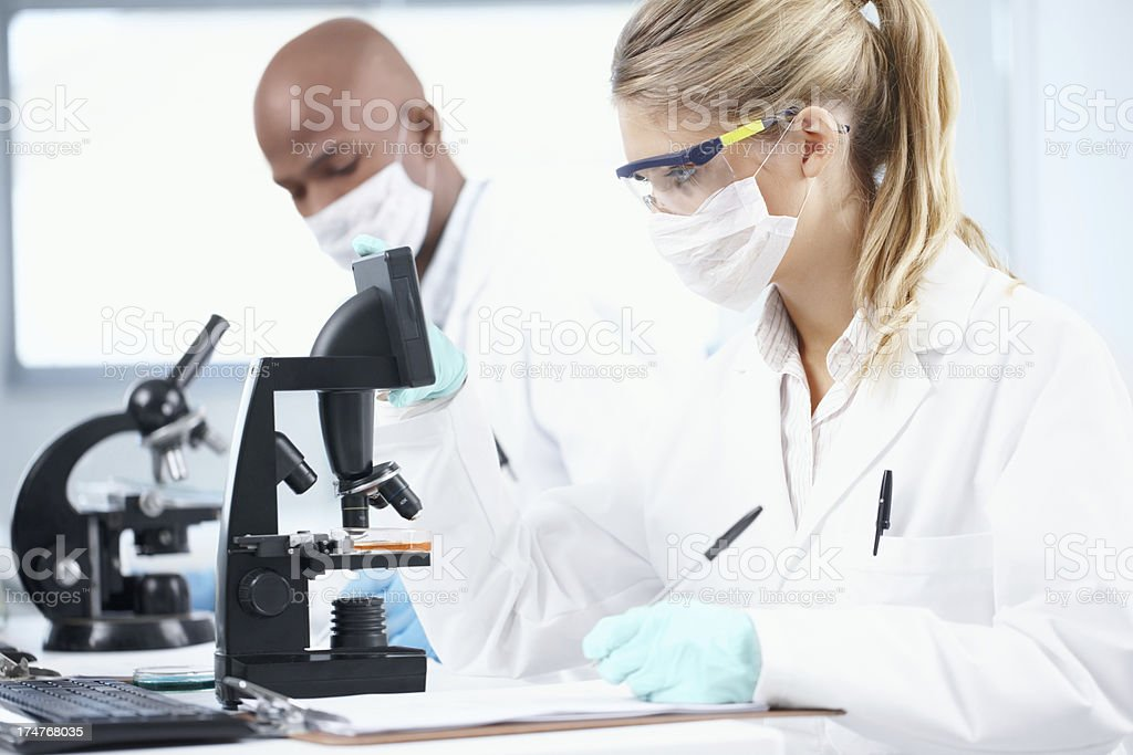 Research helps improve modern medicine stock photo