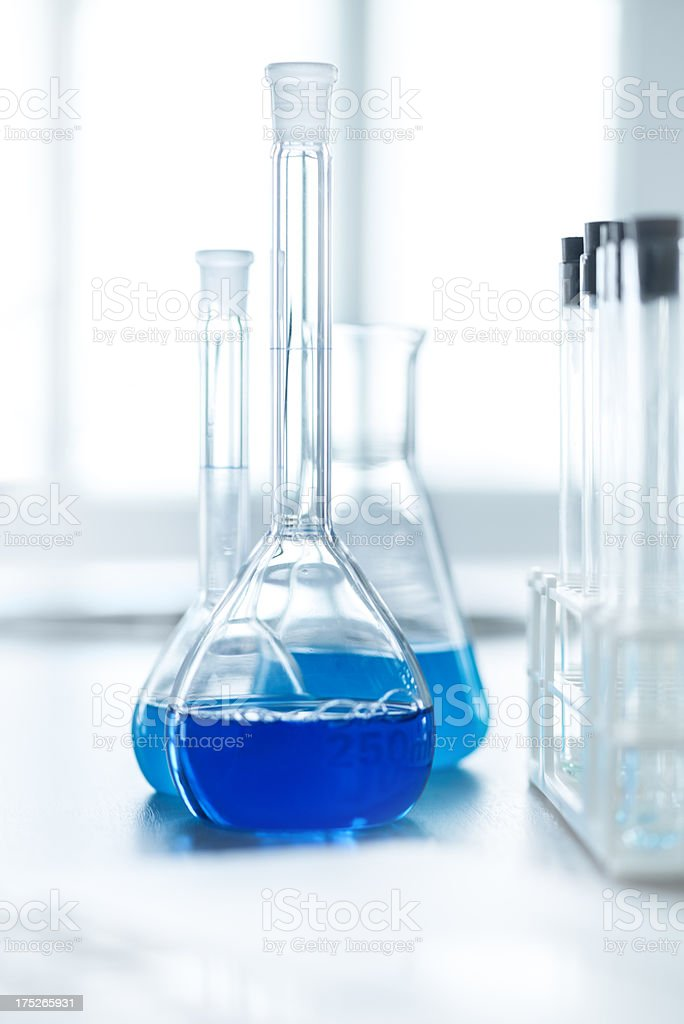 Research in modern laboratory royalty-free stock photo