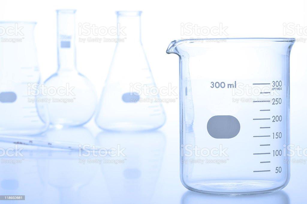research laboratory glassware stock photo