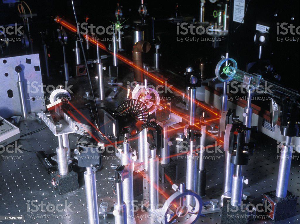 Research Laser stock photo