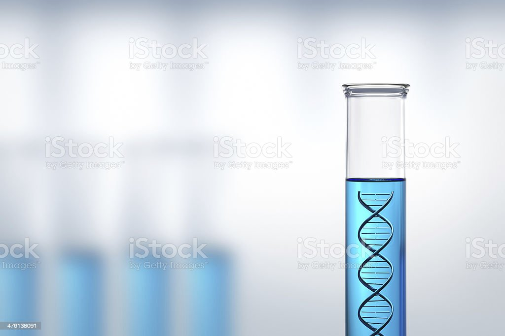 DNA research or testing in a laboratory stock photo