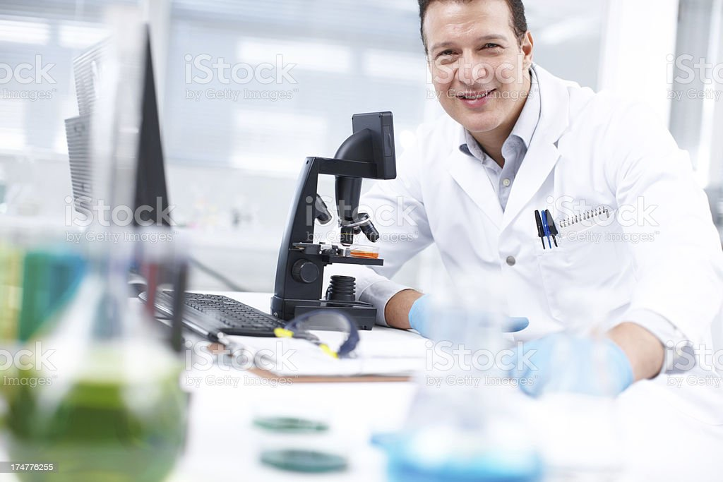 Research saves lives royalty-free stock photo