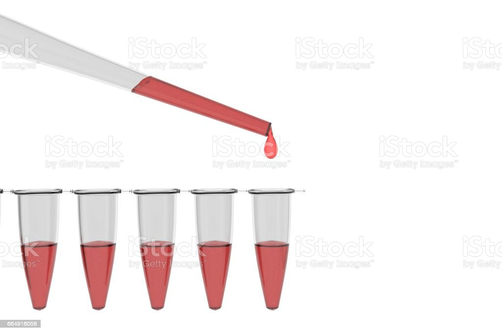CRISPR research vials stock photo
