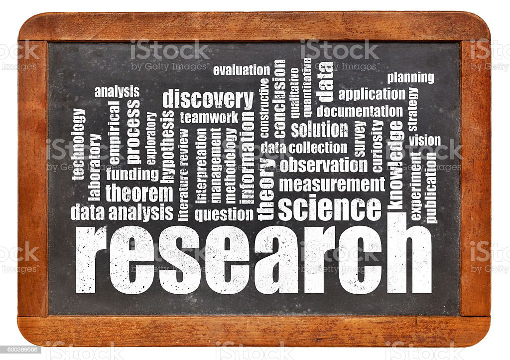 research word cloud stock photo