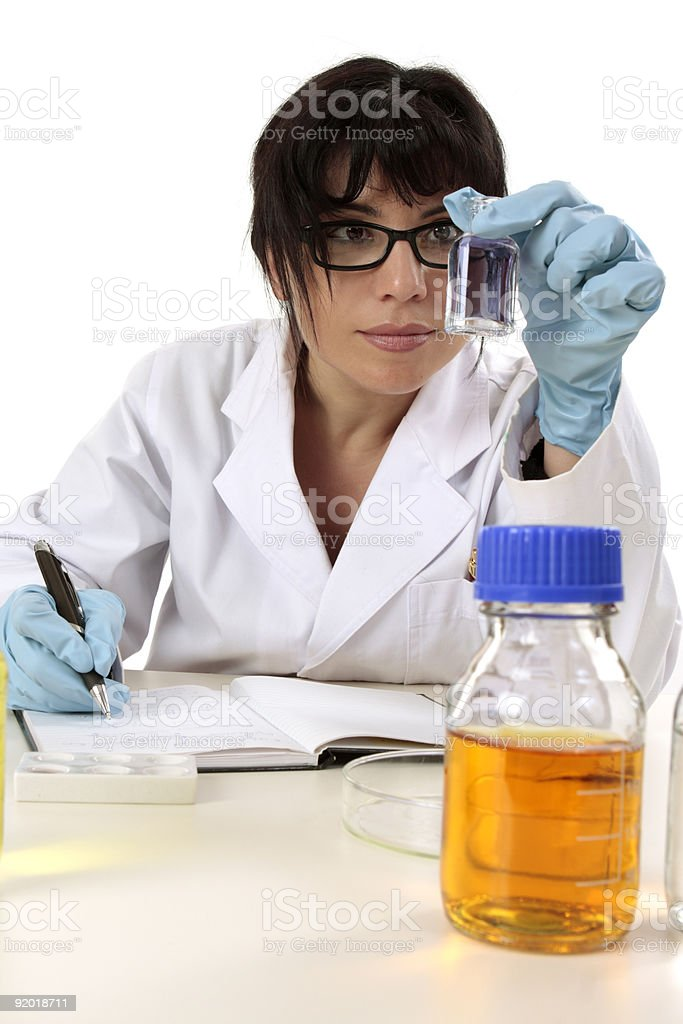 Researcher at work stock photo