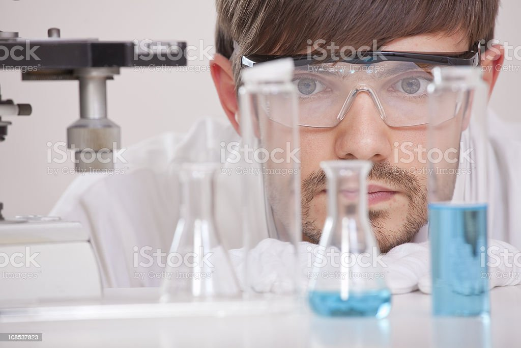 Researcher in Laboratory royalty-free stock photo