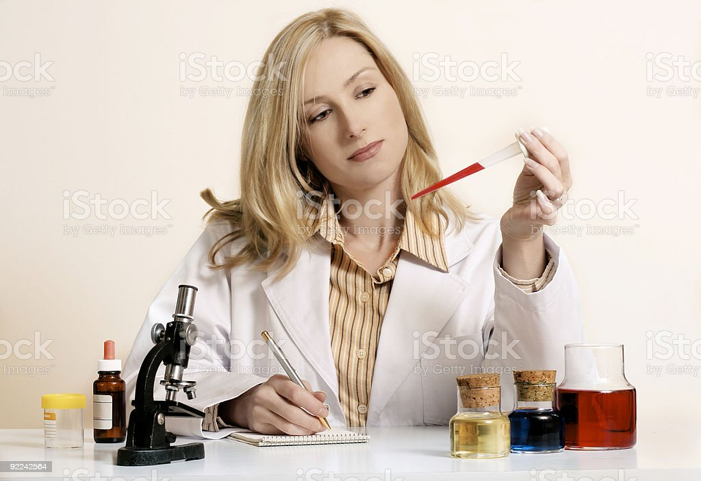Researcher stock photo