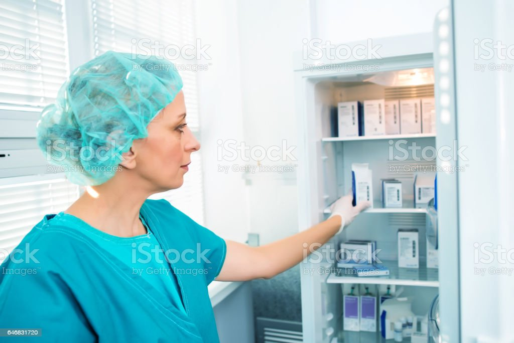 Researcher with Samples stock photo