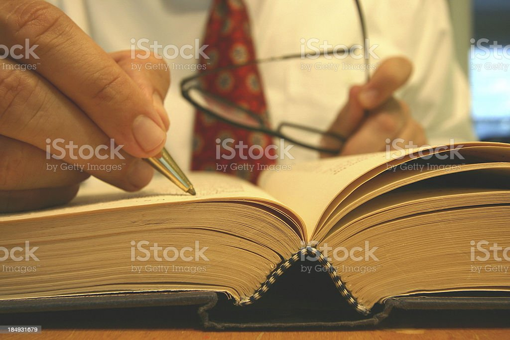 Researching stock photo