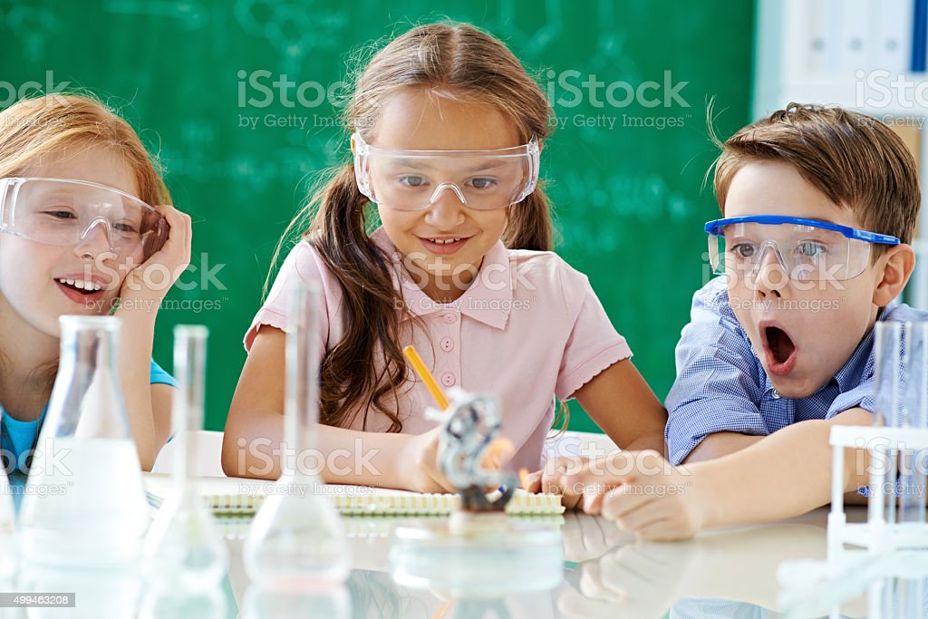 Researching together stock photo