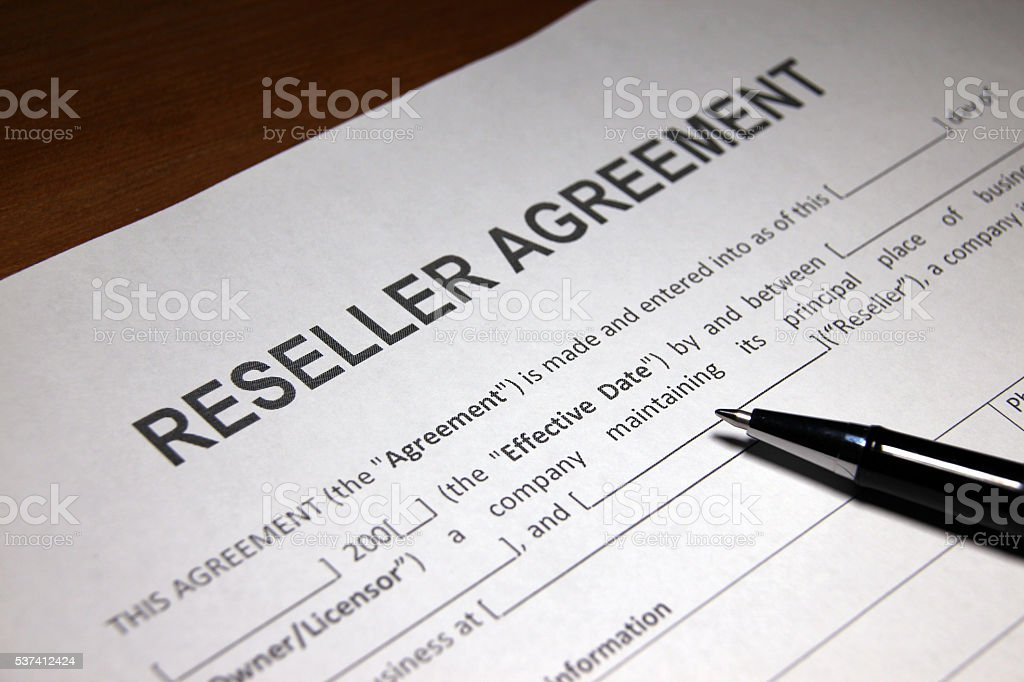Reseller Agreement Form Stock Photo 537412424 | Istock