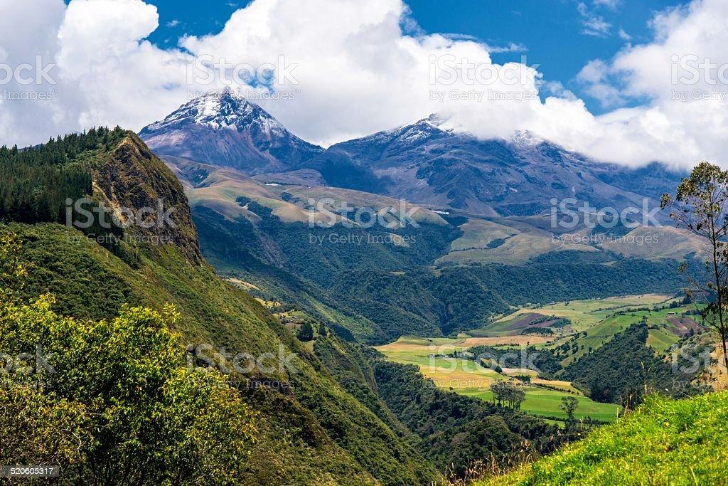 Reserva Ecologica Los Ilinizas stock photo