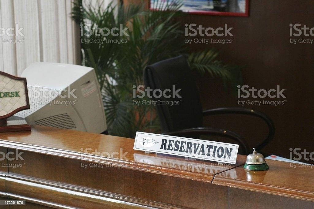 Reservation Desk stock photo