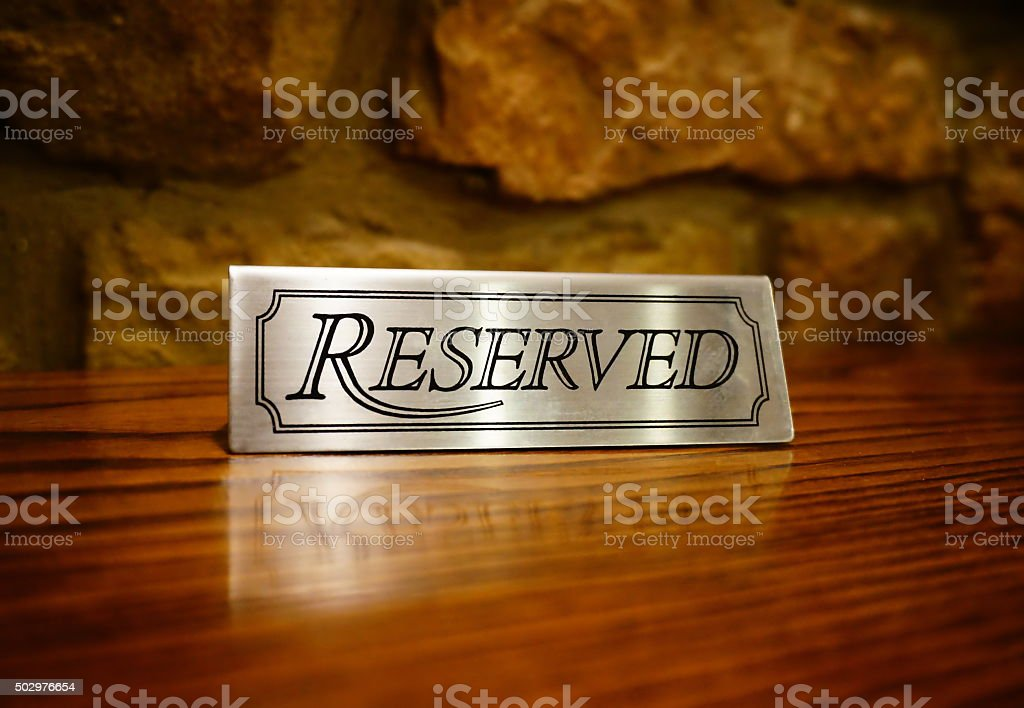 Reservation of Table in Pub stock photo