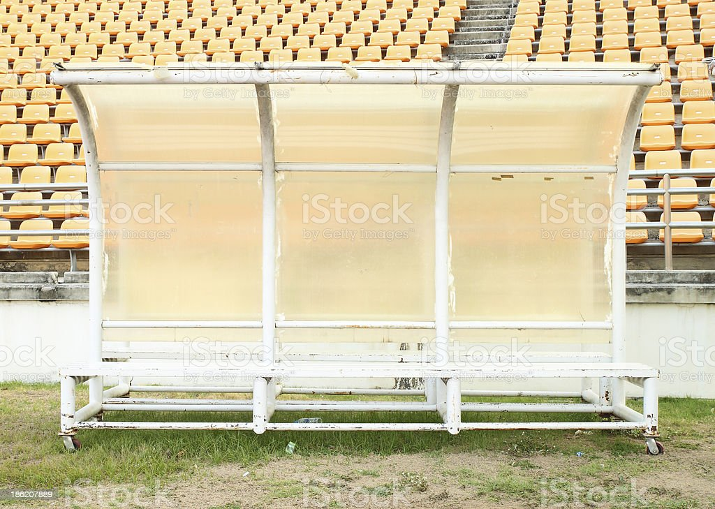 reserve and staff bench stock photo